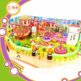 Role Play House Indoor Playground Plastic Slide Fiberglass Toys Rainbow Net
