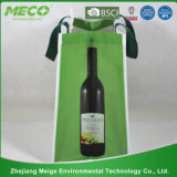 Изготовленный на заказ Promotional Non Woven 6 Packed Bottles Wine Tote Bag с x Stitched (MECO190)