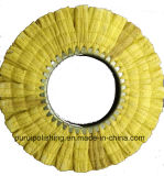 Roue de polissage de sisal ouvert de visage de jaune pour l'acier inoxydable