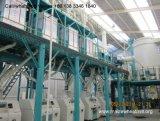 A máquina 250t da fábrica de moagem do milho termina e linha automática com sistema de controlo do PLC