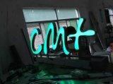 Het kleur-veranderend LEIDENE van het Embleem van het Merk AcrylStaal Vervaardigde VinylTeken van de Brief