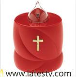 Linterna que oscila roja del cementerio al por mayor con la cruz