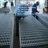 Reja galvanizada de la INMERSIÓN caliente para el foso de la calzada de la plataforma
