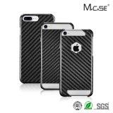Cubierta verdadera de lujo de la fibra del carbón de los accesorios más nuevos del teléfono móvil para el iPhone 7