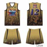 Colmo de secado rápido de Honorapparel - el juego unisex del baloncesto de la manera de la ropa de deportes de la tela de estiramiento de Wicking libera diseño