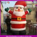 Im Freien sehr großer weißer aufblasbarer Mann des Schnee-2016 für Weihnachtsfest