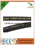 Boyau hydraulique tressé industriel de fil d'acier (R5)