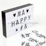 영화 가벼운 상자 DIY 편지 전시 LED 가벼운 상자