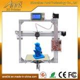 Impresora de escritorio 3D del marco del metal de DIY con el LCD y las tallas opcionales