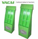 Étalage d'étage de carton de trousseaux de clés avec le laminage lustré, présentoir de détail de carton de bruit