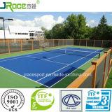 La corte di tennis Sporcizia-Resistente mette in mostra la pavimentazione adatta a banco