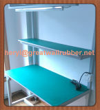 Fábrica que usa la estera de goma antiestática del piso, estera de tabla, estera de goma ESD