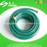 Boyau flexible vert de l'eau de jardin de PVC