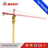 Sany Syt80 (T6012-6) 6 preço movente do guindaste de torre do comprimento de patíbulo da tonelada 60m do guindaste de torre