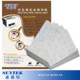 Papier blanc d'étiquette de glissière d'eau de couleur de laser de la taille A4