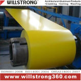 Bobine en aluminium d'enduit de PVDF en jaune
