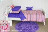 縞の女の子の寝具は100%の快適でかわいく柔らかい居心地のよいセットする