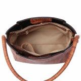 Broad Wood Grain Print Casual Style Women Shoulder Bag (MBNO041020)