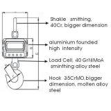 Escala de suspensão da escala do guindaste de Digitas com pilha de carga de OIML (GS-C-1T)