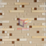 水晶およびStone Mixed Strip Mosaic Tile (CFS511)