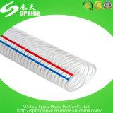 Boyau renforcé clair de fil d'acier de PVC