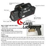 赤いレーザーの懐中電燈Cl15-0080が付いている戦術的なAirsoftの武器の懐中電燈