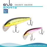 Attrait peu profond de pêche d'amorce en plastique choisie de pêcheur avec Vmc les crochets triples (SSB140570)
