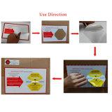 Escrituras de la etiqueta de la guía del impacto del choque de la logística del precio bajo para los instrumentos médicos