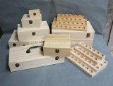 さまざま精油のびんのための木箱をカスタマイズしなさい