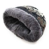 メンズ綿Camoはキャップする二重層のスキーの暖かい冬によって編まれるスケートで滑る帽子の帽子(HW411)を
