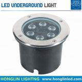 Luzes à terra Recessed diodo emissor de luz redondas 12W IP65 da iluminação subterrânea ao ar livre