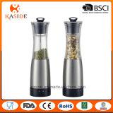 Moinho de pimenta manual de sal da capacidade 100ml inoxidável superior