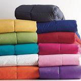 Duvet grosso da alta qualidade, 100% para baixo, escudo 100% do algodão com o Quilt costurado caixa