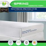 Protector laminado TPU impermeable del colchón de la cubierta de colchón de Terry de la venta caliente