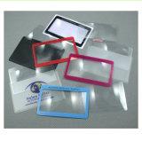 주문을 받아서 만들어진 로고 신용 카드 돋보기 포켓 돋보기 Hw-808 무료 샘플