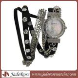 Het Horloge van de legering, het Polshorloge van het Kwarts van de Armbanden van de Vrouwen van het Leer van de Manier