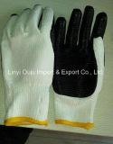 Прокатанные перчатки ладони латекса Coated для работы