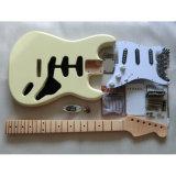 Alderボディはかえでの首DIYの開始のギターキットを炎にあてた
