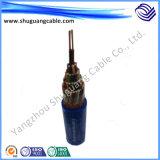 Cable de control plástico del aislamiento del flúor de alta temperatura