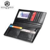 Портмоне бумажника людей Geniune горячего волокна углерода сбывания кожаный