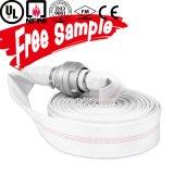 6-20 résistance de vieillissement de barre de boyau de lutte contre l'incendie de toile de coton de PVC