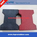 Плитка кирпича красных Pavers Собак-Косточки резиновый