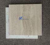 Losa de mármol de madera amarillenta blanca natural modificada para requisitos particulares