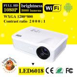WiFi androide 3000lm, proyector de 1280*800 LED con 5.8 la exhibición del LCD TFT de la pulgada