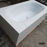 Pequeña bañera libre de piedra superficial sólida moderna (BT1608087)