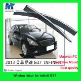 Infitini G37の車のための横窓のディフレクター