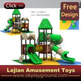 Patio al aire libre de los niños con la diapositiva del túnel (X1501-12)