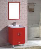 Piso de la alta calidad que coloca el gabinete de la vanidad del cuarto de baño del PVC