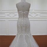 с платья Mermaid Шампань lhbim плеча кристаллический отбортовывая Bridal