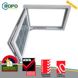 Конструкция решетки стеклянного окна Casement качания безопасности UPVC пластичная